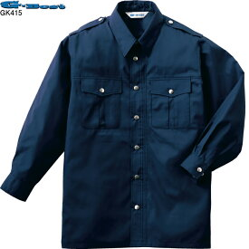 空調服 警備服・防犯商品 G-best GK415 長袖警備服ファン無し M〜4L 警備業専用 (警備業以外には販売できません)