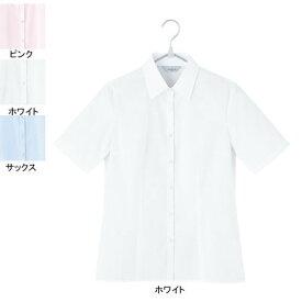 事務服・制服・オフィスウェア ピエ B2420-01 半袖ブラウス 13号・ホワイト