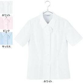 事務服・制服・オフィスウェア ピエ B2430-01 半袖ブラウス 19号・ホワイト