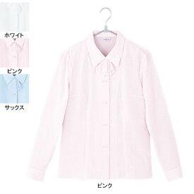 事務服・制服・オフィスウェア ピエ B2431-38 長袖ブラウス 19号・ピンク