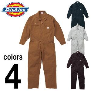 つなぎ ツナギ服 おしゃれ 3L〜5L Dickies(ディッキーズ) 秋冬作業服 年間物つなぎ服 702 刺繍 ネーム刺繍