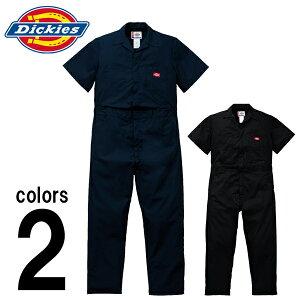 つなぎ ツナギ服 おしゃれ Dickies(ディッキーズ) 春夏作業服 半袖インポートつなぎ服 33999 刺繍 ネーム刺繍