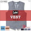 Lee ベスト チョッキ Lee WORKWEAR ヒッコリー へリンボン インディゴ リー ZIP-UP VEST bm-lcv19002