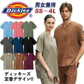 スクラブ ディッキーズ Dickies 半袖 おしゃれ 男女兼用 fo-7033sc