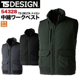 TS DELTA ナイロン ワークベスト 作業服 作業着 ベスト 補強 軽量 保温 藤和 tw-54328