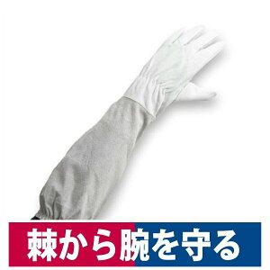 革手袋 肘まで長い革手袋 柚子 薔薇 バラ 棘 収穫作業 剪定作業 S/M/L 中部物産