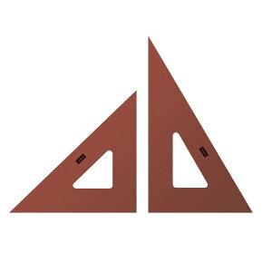 スモーク三角定規・インキエッジ付き 30cm型 (厚さ2mm) 1-809-8302