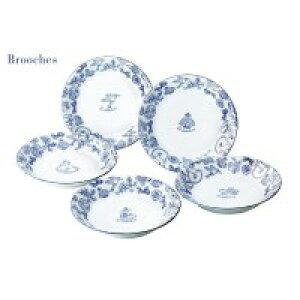 Brooches(ブローチズ) パスタ&カレー皿(5枚) 日本製 29517食器洗浄機使用可 電子レンジ使用可 食器セット