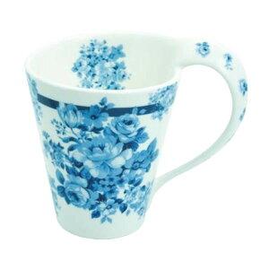 ロイヤルアーデン ニューボーンチャイナ スパイラルマグカップ バラ柄・37595【送料無料】