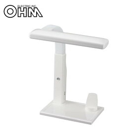 OHM USBポート付 LEDデスクスタンド ホワイト DS-LE62BI-W【送料無料】