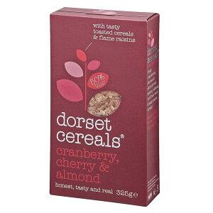 dorset cereals(ドーセットシリアル) クランベリー・チェリー&アーモンドミューズリー 325g×5個セット【送料無料】