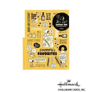 Hallmark ホールマーク スヌーピー 便箋封筒セット お気に入りフード 6セット 724177