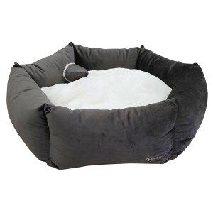 TopZoo ペット用ベッド バスケット フラワー L