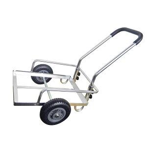 アルミ2輪コンテナカート ノーパンクタイヤ仕様 TC2002N-AL果樹園 荷物 便利