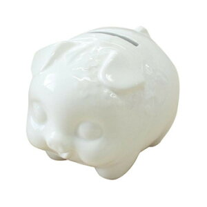 RAKUYAKI buddies ブタの貯金箱(白) 無地 小 3個セット RMB-620