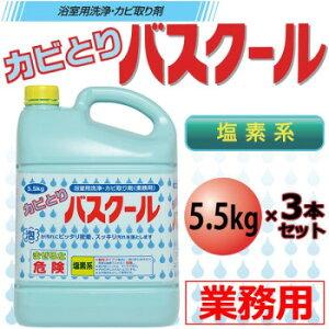 業務用 浴室用洗浄・カビ取り剤 カビとりバスクール 5.5kg 3本セット 234035お風呂掃除 掃除用洗剤 泡