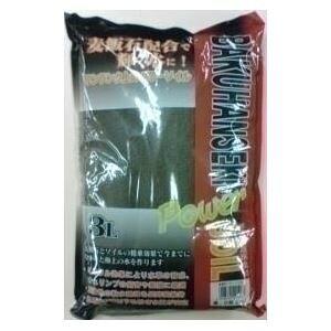 【送料無料】ソネケミファ 麦飯石パワーソイル 大粒 黒 3L【ペット用品】【水槽用品】