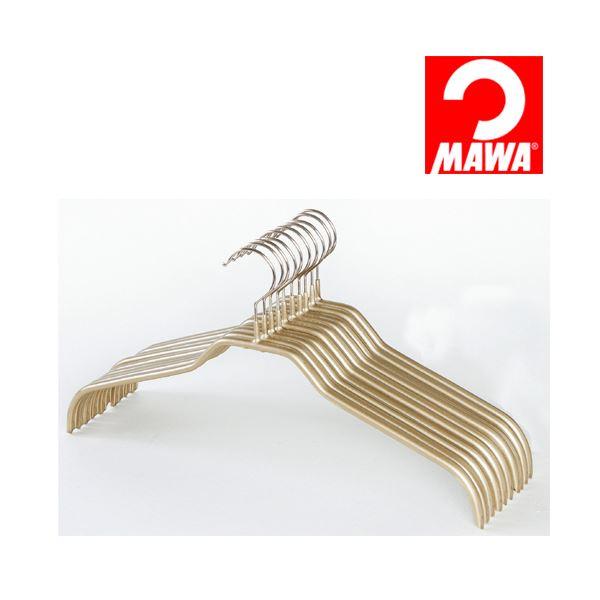 【送料無料】MAWA(マワ)社 10本セット マワハンガー 滑らないハンガー レディースハンガー ゴールド
