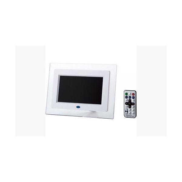 【送料無料】ITPROTECH クリアパネル7インチデジタルフォトフレーム IPT-DF70-W