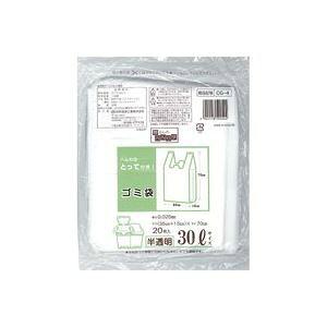 (業務用20セット)日本技研 取っ手付きごみ袋 半透明 30L 20枚 CG-4