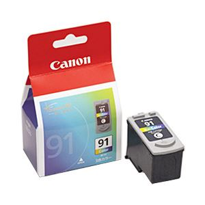 【送料無料】【純正品】 キヤノン(Canon) インクカートリッジ カラー(大容量) 型番:BC-91 単位:1個