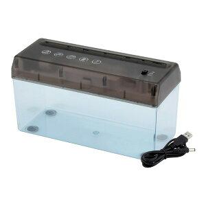 【送料無料】卓上電動シュレッダー USBケーブル付き 乾電池可 A4サイズ対応
