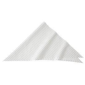 【送料無料】ストライプ三角巾 ホワイト KMB2941-21