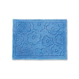【送料無料】バスマット/フロアマット 【約45×60cm ブルー】 吸水 抗菌 防臭 裏面滑り止め加工 『乾度良好 サニー』