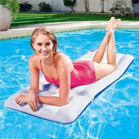【送料無料】エアーマット/浮き輪 【72cm×28cm】 ポリ塩化ビニル Luxury Mattress 〔プール ビーチ〕