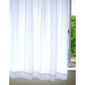 【送料無料】夜も見えにくいレースカーテン / 1枚のみ 150×223cm ホワイト / UVカット 遮像 防汚 日本製 『イチマツレース』 九装