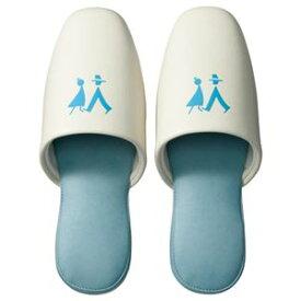 【送料無料】(まとめ) TANOSEE トイレ用 吊り込みスリッパ ブルー 1足 【×5セット】