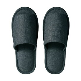 【送料無料】(まとめ) TANOSEE 外縫いスリッパ ブッチャー 大きめL チャコール 1足 【×5セット】