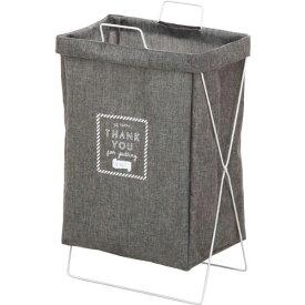 【送料無料】ランドリーバスケット/洗濯物ボックス 【グレー】 幅37cm 横型取手付き 〔バスルーム 脱衣所 リビング〕【代引不可】