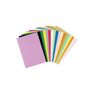 【送料無料】(業務用50セット) リンテック 色画用紙R/工作用紙 【A4 50枚】 ひまわり