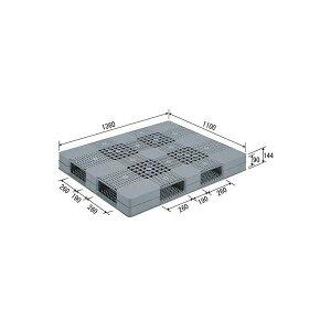 三甲(サンコー) プラスチックパレット/プラパレ 【両面使用型】 段積み可 R4-110136 PE グレー(灰)【代引不可】