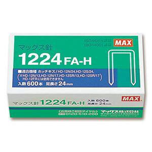 【送料無料】(まとめ) マックス ホッチキス針 大型12号シリーズ 100本連結×6個入 1224FA-H 1箱 【×5セット】