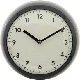 【送料無料】北欧風 レトロクロック/時計 【ブラック】 幅23.5cm スチール・ガラス製 〔リビング ダイニング〕【代引不可】