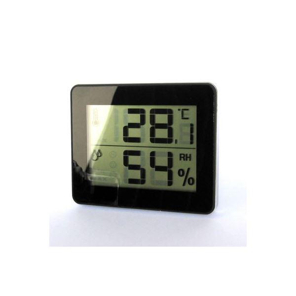 【送料無料】(まとめ)デジタル温湿度計 ブラック ヤザワ DO01BK【×5セット】