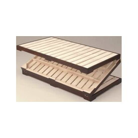 【送料無料】桐三つ折りすのこベッド セミダブル 木製(桐)/スチール 【完成品】【代引不可】