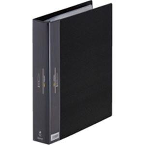(業務用30セット) キングジム ヒクタス クリアファイル/バインダータイプ 【A4/タテ型】 7139-3 ブラック(黒)