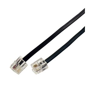 【送料無料】(まとめ)ミヨシ(MCO)6極4芯モジュラ-ケーブル 黒 5m TC-405BK【×10セット】
