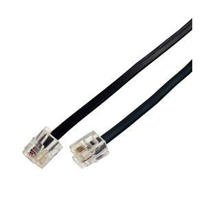 【送料無料】(まとめ)ミヨシ(MCO)6極4芯モジュラ-ケーブル 黒 10m TC-410BK【×5セット】
