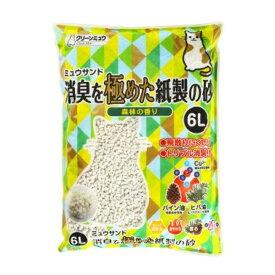 【送料無料】(まとめ)CMミュウサンド消臭を極めた紙製の砂6L【ペット用品】【×7セット】