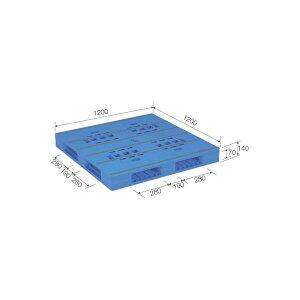 三甲(サンコー) プラスチックパレット/プラパレ 【両面使用タイプ】 軽量 LX-1212R4 ブルー(青)【代引不可】