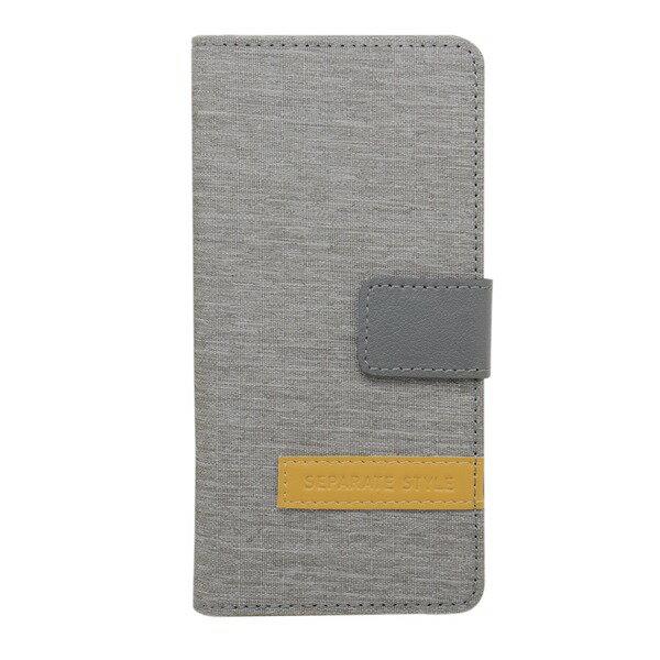 【送料無料】ミヨシ(MCO) iPhone 7用 4.7インチ スタンドとしても使える手帳型ケース IPC-NB01/LG ライトグレー