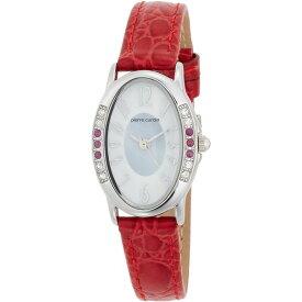【送料無料】pierre cardin(ピエールカルダン) 腕時計 ソーラー 天然石 6P PC-792 ルビー(レッド)