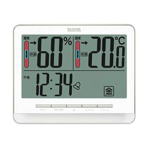 【送料無料】(まとめ)タニタ 温湿度計 ホワイトTT-538WH 1個【×3セット】