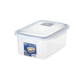 【送料無料】(まとめ) 保存容器/ロック式ジャンボケース 【6L】 銀イオン(AG+)配合 抗菌仕様 日本製 キッチン用品 【×28個セット】
