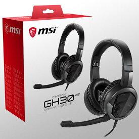 【送料無料】MSI IMMERSE GH30 GAMING HEADSET V2 / 3.5mm jacksplitter cable イヤホン&マイク端子接続 IMMERSE GH30 V2