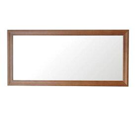 【送料無料】クラスウォールミラー W49×107cm 長方形壁掛け ライトブラウン